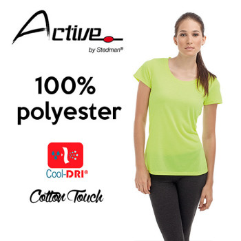 T-skjorte Dame Active Cotton
