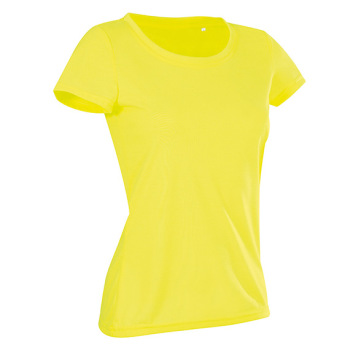 T-skjorte Dame Gul Active Cotton