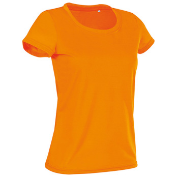 T-skjorte dame Oransje Active Cotton