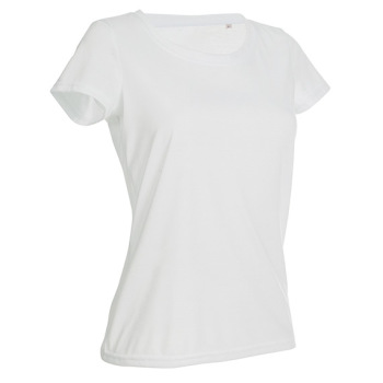T-skjorte dame hvit Active cotton